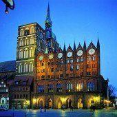 Historischer Stadtkern in Stralsund und Wismar