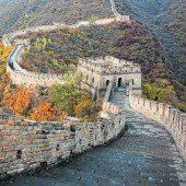 Berühmtes Monument: Die chinesische Mauer
