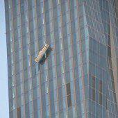 Aus 144 Metern Höhe gerettet