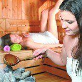Feurige Sauna