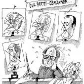 Schwerstarbeit für Karikaturisten!
