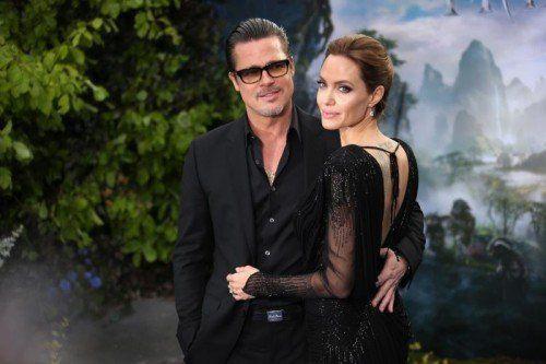 Haben eine romantische Ader: Pitt und Jolie. Foto: AP