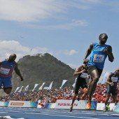 Usain Bolt bei Exhibition an der Copacabana nicht zu schlagen