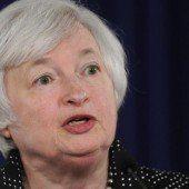 Fed-Chefin will Zinsen noch nicht anheben