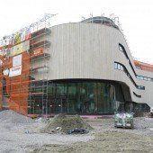 Bau von Montforthaus im Endspurt
