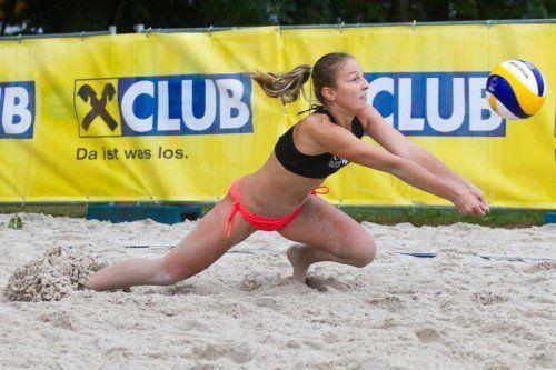 Anna Oberhauser sicherte sich mit ihrer Partnerin Sophia Feichter den Titel bei der Beachtour. Foto: steurer