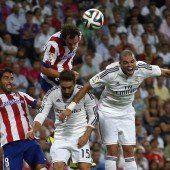 Erster Akt im spanischen Supercup zwischen Real und Atletico Madrid endete 1:1 remis
