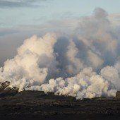 Vulkan Bárdarbunga  auf Island spuckt Lava