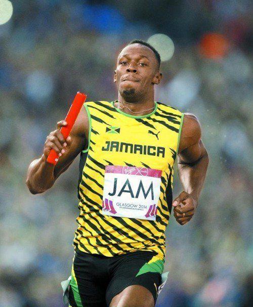 Usain Bolt verhalf Jamaika zu Commonwealth-Gold. Foto: apa
