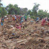 Tödliche Monsun-Flut in Nepal und Indien
