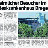 Psychisch Kranker sorgte in Bregenzer Spital für Aufregung