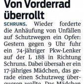 Verkehrsunfall in Schruns am 13. 12. 2013