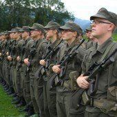 Angelobung neuer Rekruten in Meiningen