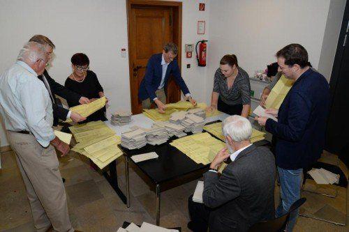200 Wahlhelfer sorgten in 40 Wahlsprengeln für einen reibungslosen Ablauf.