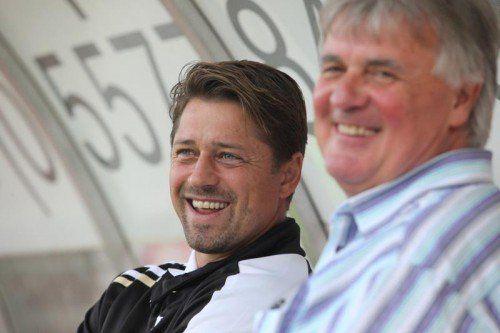 2011 noch ein Herz und eine Seele: Kolvidsson (l.) und Hubert Nagel.