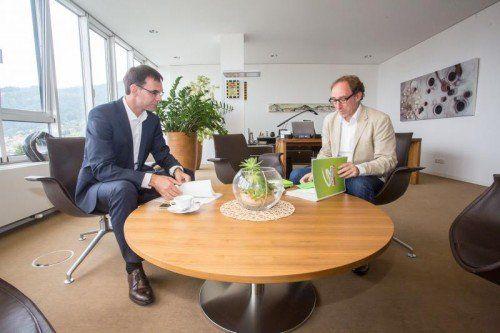 Ab heute Chefverhandler für Koalition: LH Markus Wallner (l.) und Grünen-Chef Johannes Rauch. VN/Steurer
