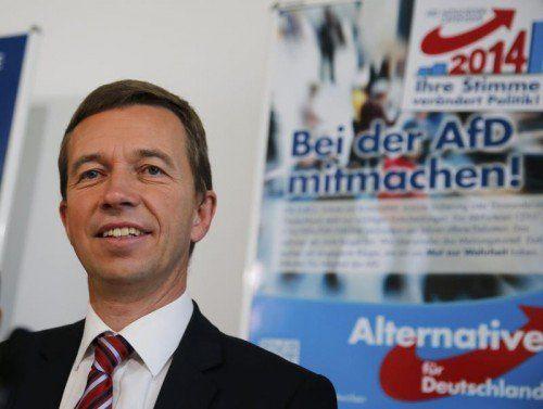 AfD-Chef Bernd Lucke freut sich über den Erfolg.  REUTERS