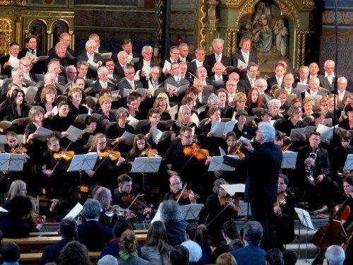 Am 1. Oktober, 20 Uhr, gibt es in der Kirche St. Peter und Paul in Lustenau eine öffentliche Generalprobe, bevor es ab nach Belgien geht.  Foto: JU