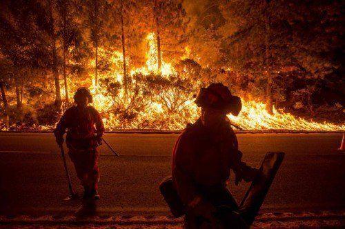Am schlimmsten betroffen ist das Waldgebiet Eldorado National Forest nördlich von Sacramento – 4680 Hektar Fläche wurden zerstört.  Rts