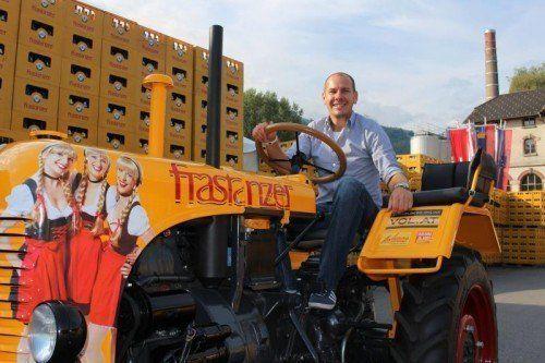 Am Sonntagvormittag wird im Rahmen des Frühschoppens der Gewinner des Traktors gezogen. Foto: sis