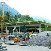 Altstoffsammelzentrum im Aufbau