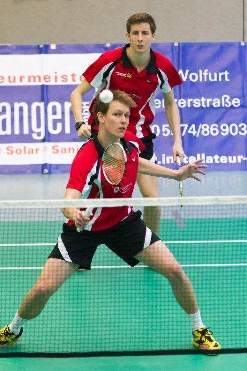 Badminton, 1. Bundesliga, UBSC Wolfurt - AS Mödling, Doppel Matthias Bertsch Jan Sedlmayr