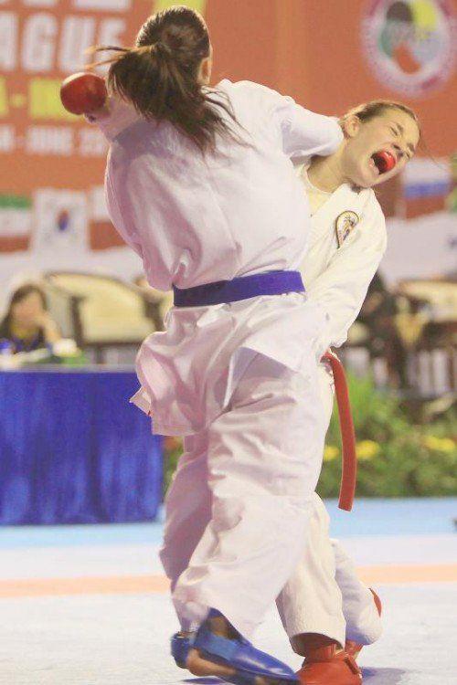 Karate-Lady Bettina Plank hat sich so wie 2014 in Tampere ins EM-Finale vorgekämpft und trifft dort auf die Französin Recchia. Foto: ökb