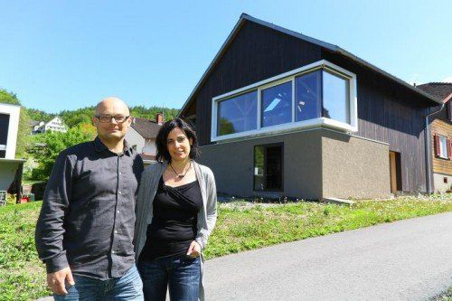 Das Einfamilienhaus von Alexandra und Hannes Zumtobel ist eines der Häuser die besichtigt werden können.  Foto: VN/Hofmeister