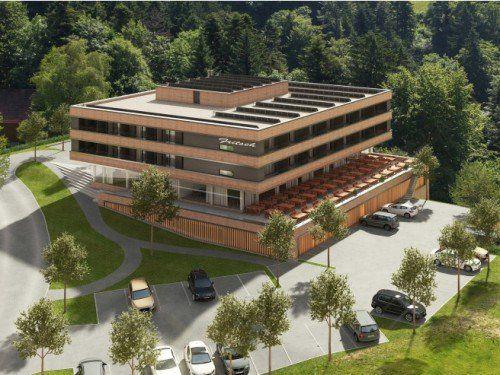 """Das Mental-Spa-Hotel """"Fritsch am Berg"""" hat Mitte Juli eröffnet. Für Ende September ist die Fertigstellung geplant. Foto: Fritsch"""