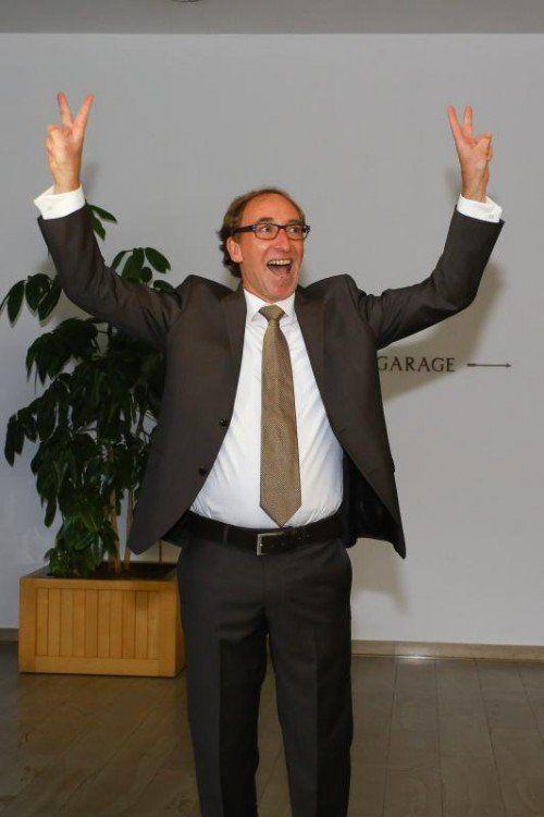 Der große Sieger der Landtagswahl 2014: Grünen-Chef Johannes Rauch. Ob es für die Regierungsbeteiligung reicht, wird sich zeigen.