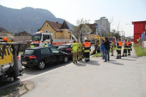 Der Unfall vom 31. März in Hohenems. Foto: vol.at/rauch