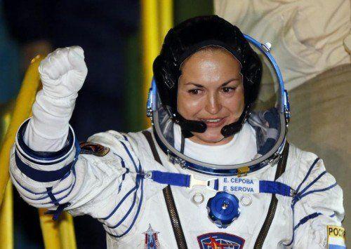 Die 38-jährige Jelena Serowa ist die erste Russin auf der ISS. EPA