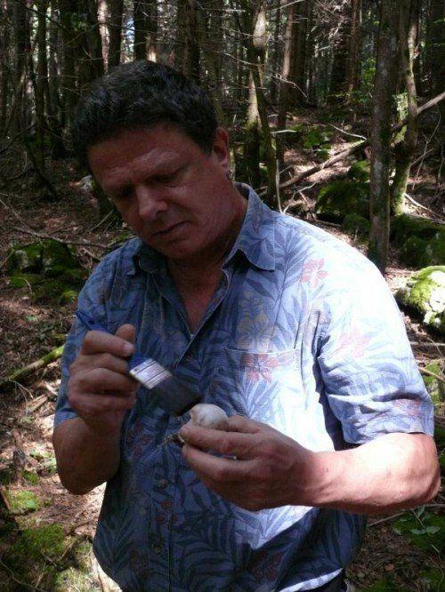 Dr. Klaus Zimmermann aus Dornbirn reinigt einen Steinpilz. Der studierte Biologe weiß genau, was er auf dem Waldboden findet.
