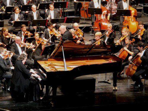 Elisabeth Leonskaja mit dem Sinfonieorchester Basel unter Dennis Russell Davies. Foto: JU