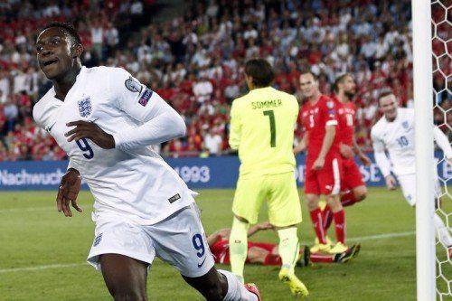 England-Stürmer Danny Welbeck war mit zwei Treffern der Matchwinner beim 2:0-Sieg über die Schweiz.  epa