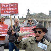 Protestaktionen gegen die Aktivitäten der NSA in Berlin