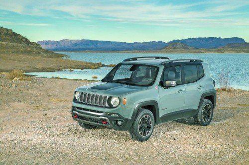 Erste VN-Testfahrt: Der Jeep Renegade soll mit echten Offroad-Eigenschaften Kundschaft rund um die Welt erobern. Fotos: werk