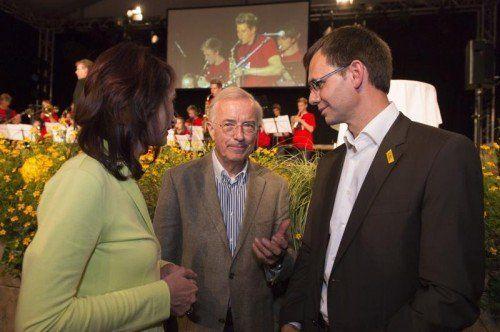 Feierten ins Wahlkampffinale: Spitzenvertreter von VP, FP, SP sowie Grünen und Neos.