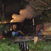 Riedhütte wurde ein Raub der Flammen