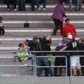 Tumult im Herrenried-Stadion
