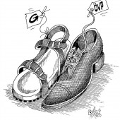 Zwei Paar Schuh!