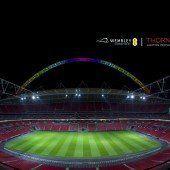 Thorn beleuchtet Wembley Stadion
