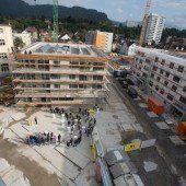 Firstfeier auf größter Bregenzer Baustelle