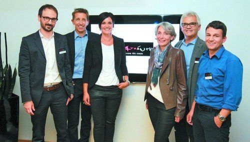 Florian Eberle, Jeannot Fink und Gattin Elke Fink-Ritter, Elisabeth und Reinhard Warger sowie Wolfgang Lang (v. l.) Fotos: Ame
