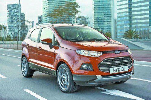 Fords Miniatur-SUV EcoSport basiert in seiner zweiten Generation auf dem Fiesta. Fotos: werk