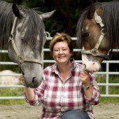 Eine pferdeverrückte Frau