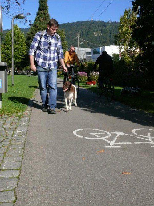 Herrchen muss darauf achten, dass sein Hund niemanden gefährdet.