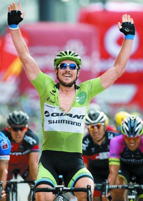 Im Sprint Sieger in A Coruña: John Degenkolb. Foto: ap