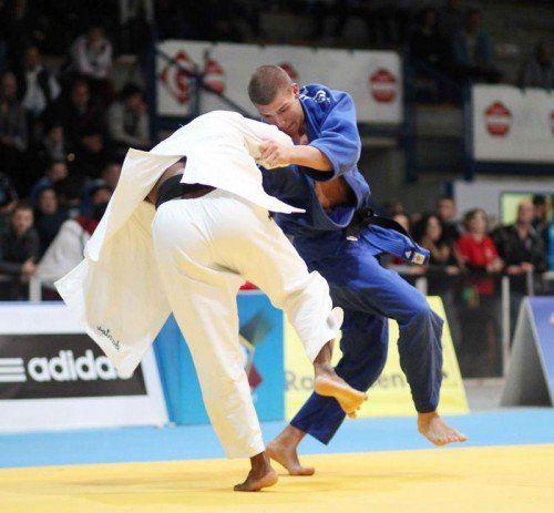 Judoka Laurin Böhler (blauer Kimono) will sich heute in Bukarest seine erste EM-Medaille holen. Foto: gepa
