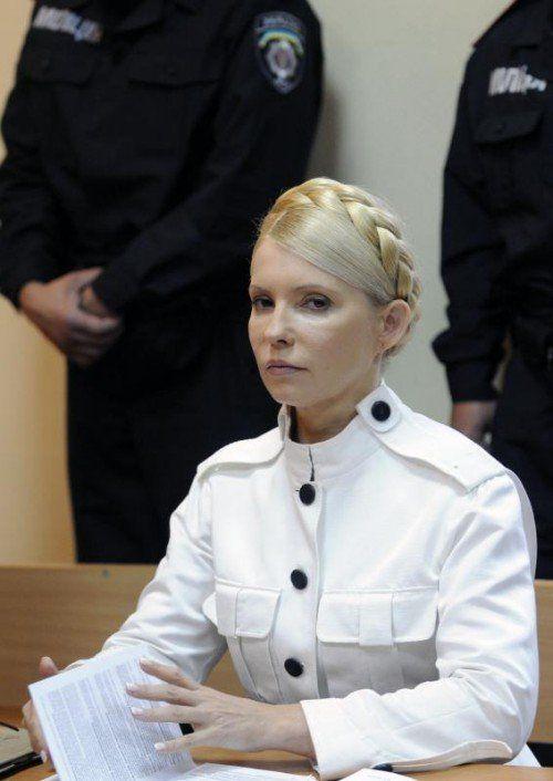 Julia Timoschenkos Anhänger wehren sich gegen das Gesetz. AP